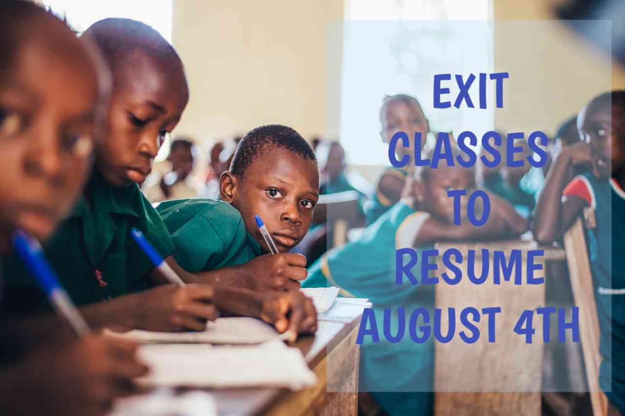 Schools To Resume August 4Th, Federal Government, Press Release