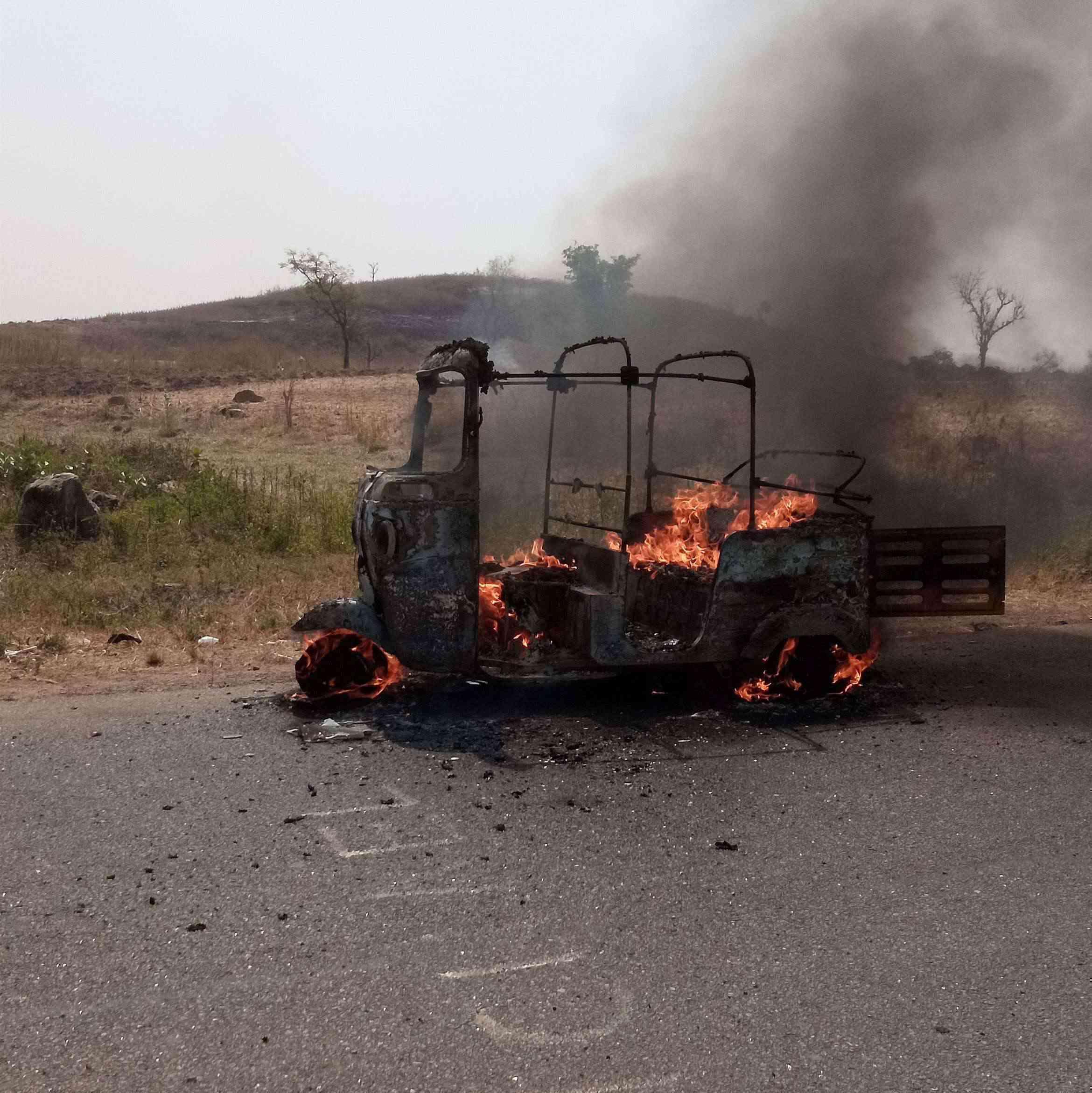 Keke Bursts Into Flames Near Hostel