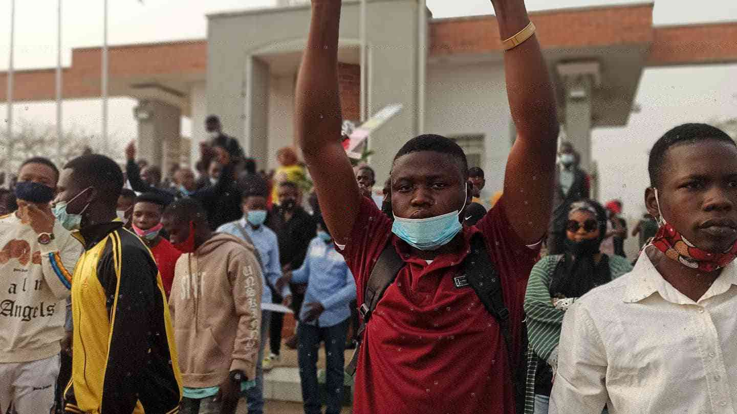 UniAbuja students protest unfair policies implemented by its VC