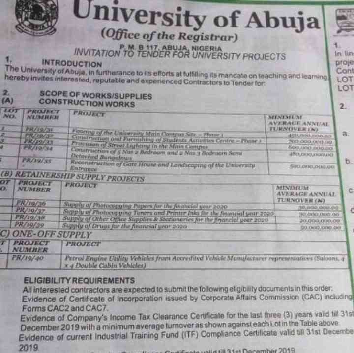 Uniabuja's Permanent Site Might Get Fenced Next Year