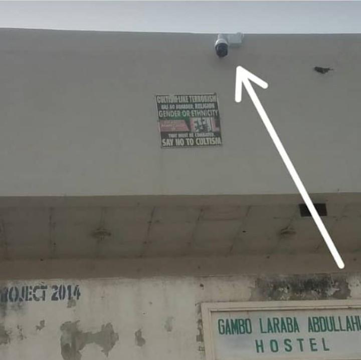 CCTV outside old female hostel
