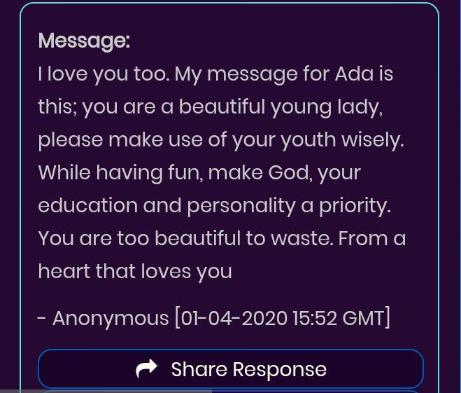 An anonymous love message