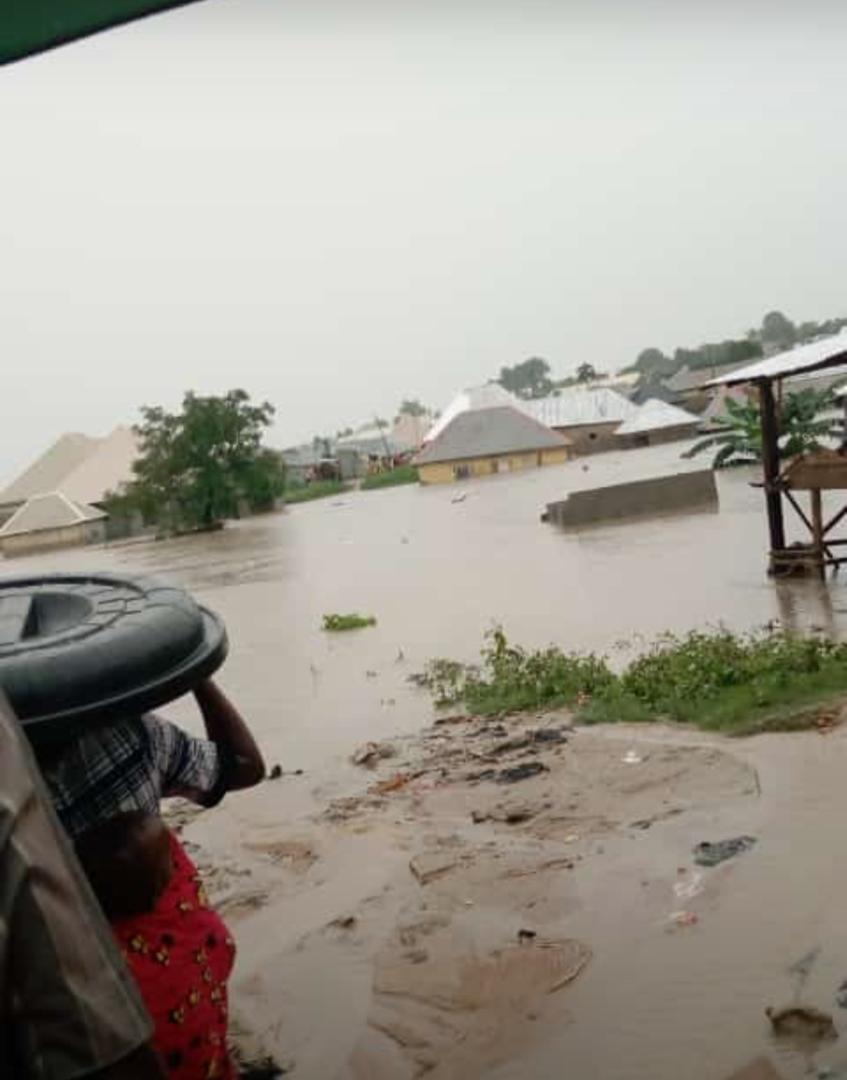 Houses submerged at Giri, Abuja, Nigeria
