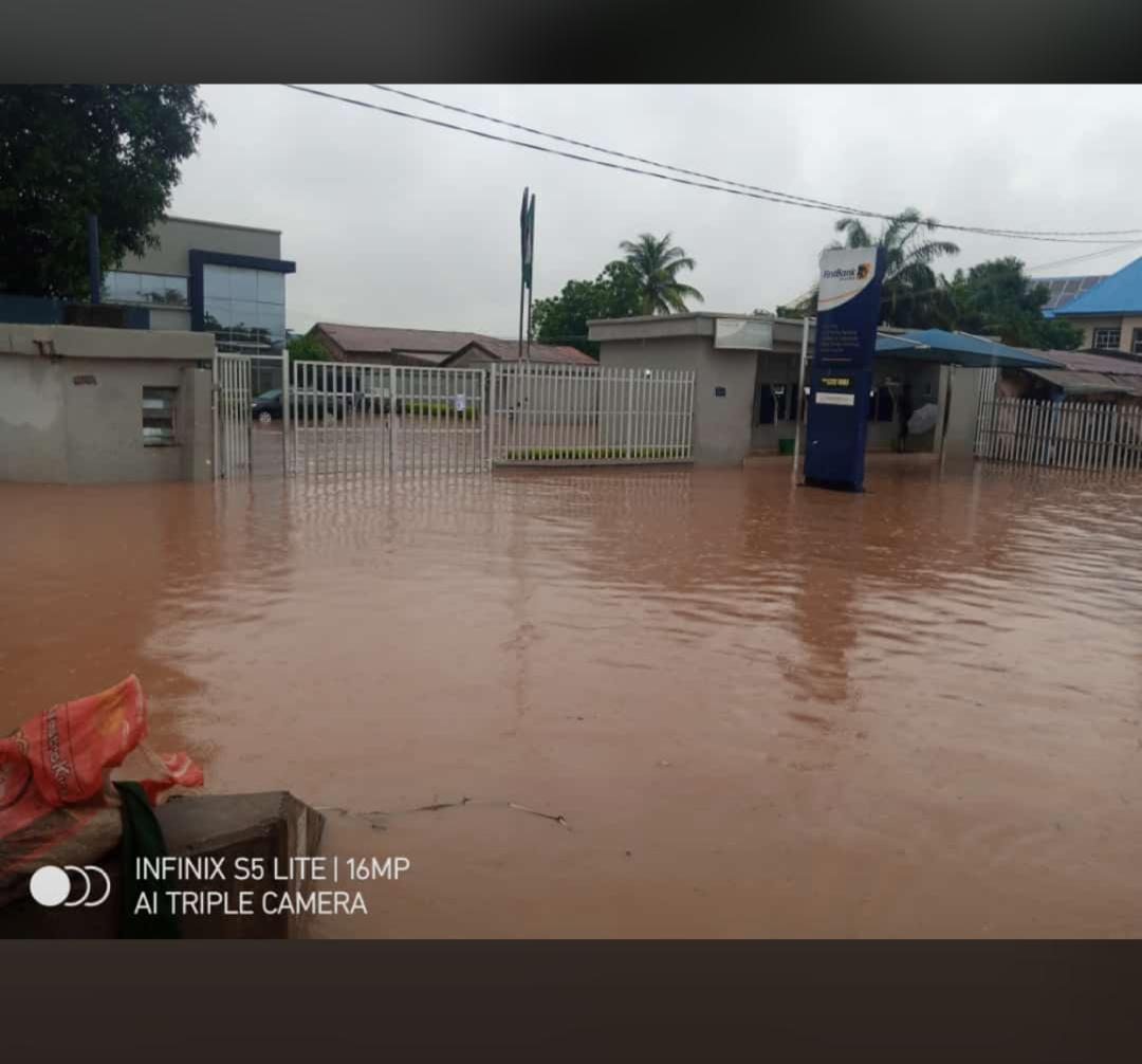 Firstbank, Park road, Gwagwalada flooded
